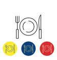 diet fit outline icon vector image vector image