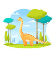 dinosaurs wildlife cartoon composition vector image vector image