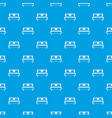 double bed pattern seamless blue vector image vector image