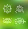 Eco Settlement Logo Set vector image vector image