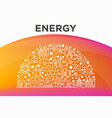 energy concept in half circle with thin line icons vector image vector image