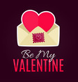 envelope with heart card for valentines day vector image vector image