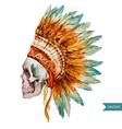 Ethnic skull vector image vector image