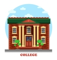 Facade of national college corpus for education vector image vector image