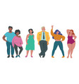 fat people body positive attractive characters vector image vector image
