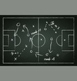 football field with tactic lines vector image