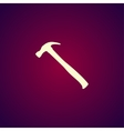 hammer icont Flat vector image vector image