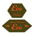 hexagonal eco product label with ears vector image vector image