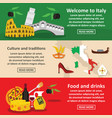 italy travel banner horizontal set flat style vector image vector image