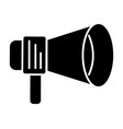 loudspeaker round icon black vector image vector image