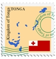 mail to-from Tonga vector image vector image