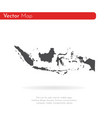 map indonesia isolated black vector image vector image