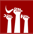 mayday happy labour day crowd worker icon worker vector image vector image
