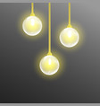 modern gold metallic lamp-shade electric set vector image