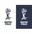 modern professional sign logo water polo vector image vector image