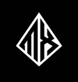 mx logo letters monogram with prisma shape design vector image vector image