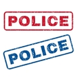 Police Rubber Stamps vector image vector image