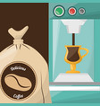 premium coffee sac drink vector image vector image