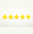 rating stars clipart 3d comic style editable vector image