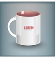 Realistic cup with corporative logotype vector image