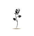 rose icon black vector image vector image