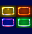 round light frame set shining square vector image