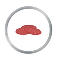 Salami icon in cartoon style isolated on white vector image