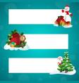 santa snowman and christmas gifts xmas banners vector image vector image