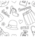 Seamless pattern with hats perfumefootwear etc vector image