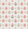 set of eggs painted easter pattern background vector image