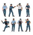 set policeman characters vector image vector image