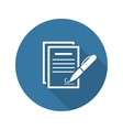 Signing Contract Icon Business Concept Flat vector image