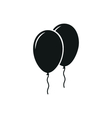 Simple black icon of Two Balloons on white vector image vector image