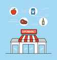 supermarket grocery and store food and drinks vector image