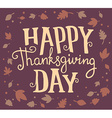 thanksgiving with text happy thanksgiving da vector image vector image