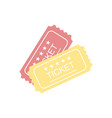 ticket icon in flat style vector image