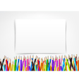 Top view of stationary blank paper and color vector image vector image