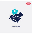 two color cooperation icon from gdpr concept vector image vector image