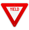 USA Yield Sign vector image vector image