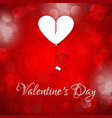 valentines day card with pattern background vector image vector image