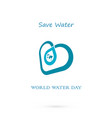 water drop with world icon logo design vector image vector image