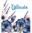 wild forest flowers bouquet card vector image vector image