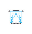 window curtains linear icon concept window vector image
