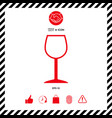 wineglass symbol icon vector image vector image