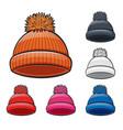 winter hat cartoon vector image vector image