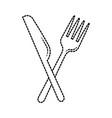 restaurant food fork and knife symbol vector image