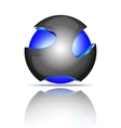Abstract 3d sphere logos vector image