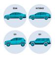 sedan saloon passenger automobile hatchback vector image