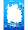 A frame with a blue monster lying down vector image vector image