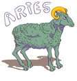 aries sign colored vector image vector image